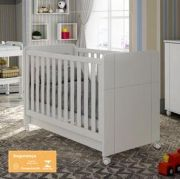 Berço Padrão Americano Angel Branco Acetinado Mini cama - Fiorello