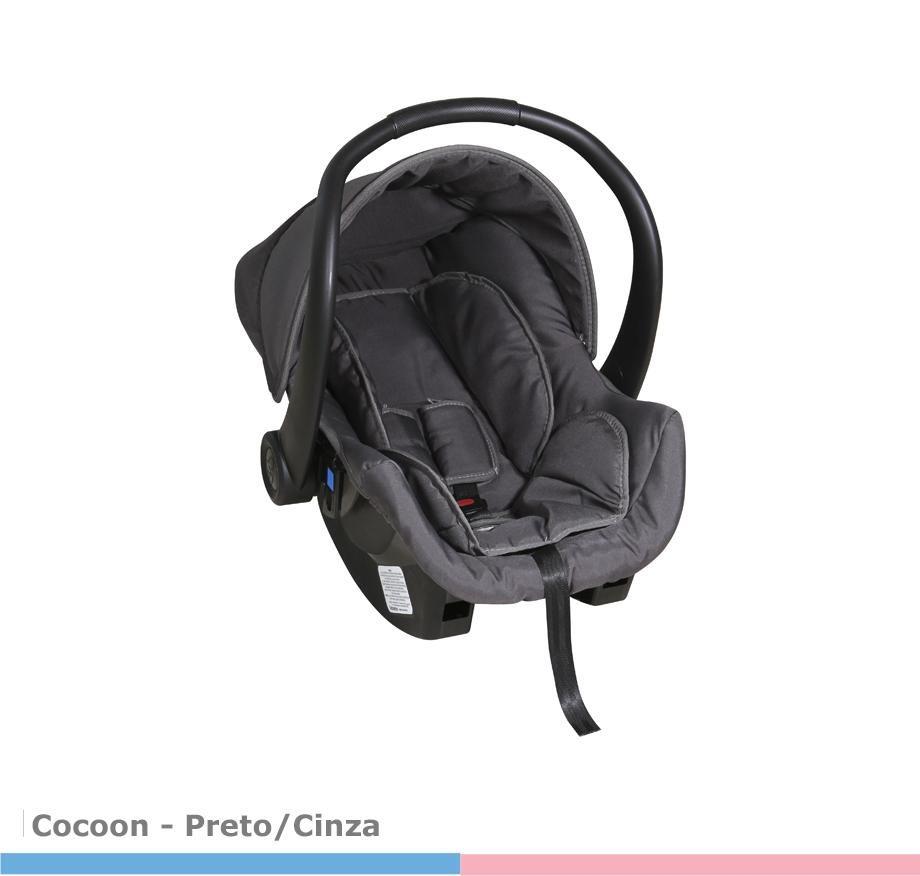 Bebê Conforto Cocoon Preto/Cinza Galzerano
