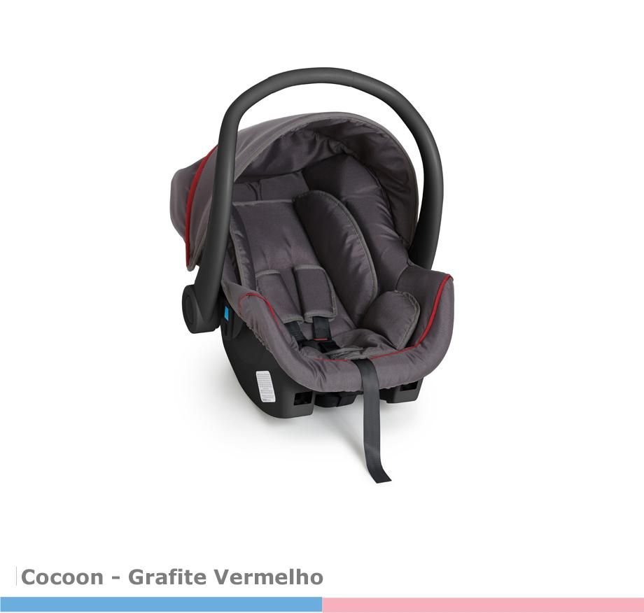 Bebê Conforto Cocoon Grafite/Vermelho Galzerano