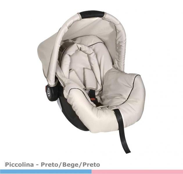 Bebê Conforto Piccolina  Preto/Bege/Preto