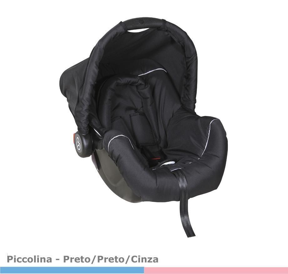 Bebê Conforto Piccolina  Preto/Preto/Cinza
