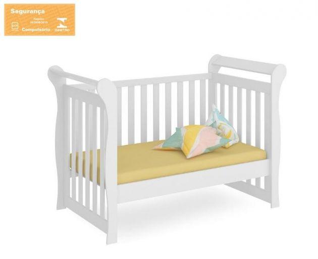 Berço padrão Americano Mini Sofá Amora Branco Brilho - Fiorello
