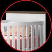Berço Bebê Retrô 2 em 1 Cinza Baby Estilo