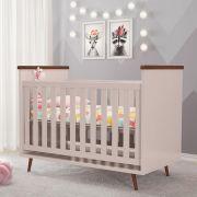 Berço Bebê Retrô 2 em 1 Rosê