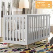 Berço Smart Baby Branco Acetinado (Pé Artesanal) Fiorello