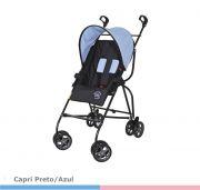 Carrinho de Bebê Capri Preto/Azul  Galzerano