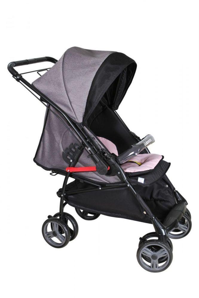Carrinho de Bebê Maranello Rosa/Preto  Galzerano