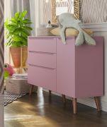 Cômoda Infantil Smart Baby Rose Quartz (Pé Retrô) - Fiorello