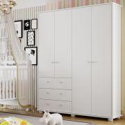 Guarda Roupa Bebê  Adoleta 4x3 Acetinado