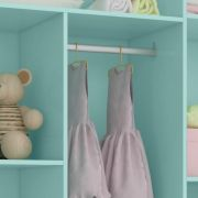 Guarda Roupa Bebê 3 portas e 2 gavetas Smart Verde Menta (Pés retrô) Fiorello